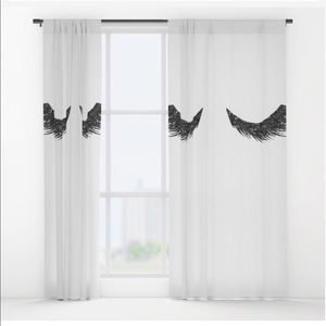 2 Society6 curtains. Dimensions in description